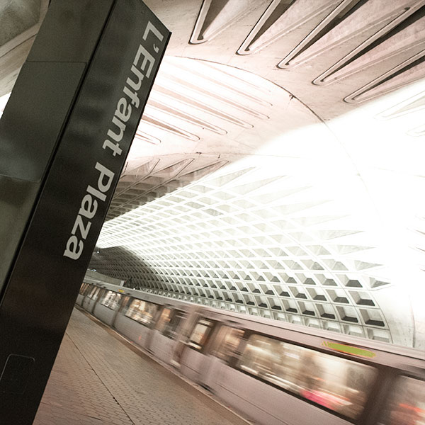 L'Enfant Plaza Metro offers access to five different metro lines.